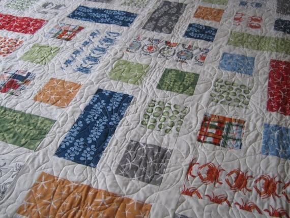 Lap Quilt  Twin Quilt or Throw Going Coastal  READY TO SHIP