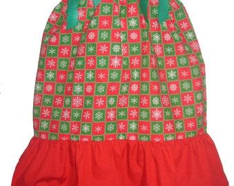 Pillowcase Dress & Pants Set Christmas Snowflakes Squares Boutique12/18M 24M/2T 3T/4T Pageant