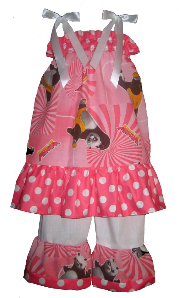 3T/4T PAGEANT Pillowcase Dress & Pants Set Kung Fu Panda Boutique New