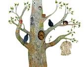 Giclee art print Oak Tree Print 11.7x16.5