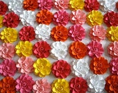 The Marigold Paper Flowers - Custom Colours - set of 10
