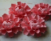 The Peony -  Handmade Paper Flower - Light Pink - Set of 10 - Stems NOT Included