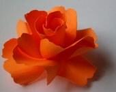 The Rose Handmade Paper Flower - Bright Orange - (Set of 3)