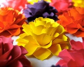 The Rosetta Paper Flowers - ASSORTED COLORS - Pack of 40 - Made To Order