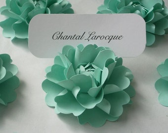 Place Card Holders - Handmade Paper Flower - Oriental Poppy - CUSTOM COLOR Available - Set of 50