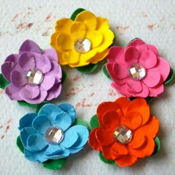 Lollipop Mini-Paper Flowers (set of 5)