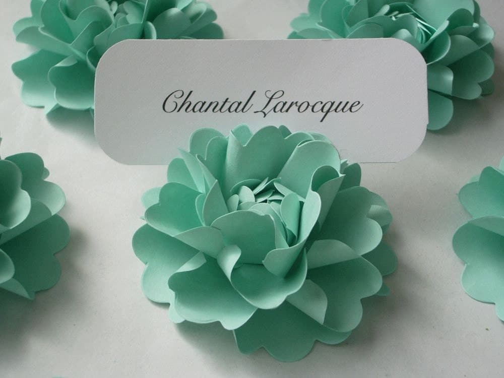 Blue Flower Place Card Holders 94