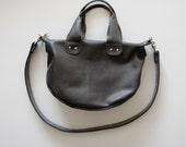 Gray Leather Bag - Medium Everyday Traveler - 30% OFF SALE