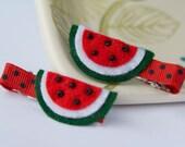 Felt Watermelon Hair Clip (single)