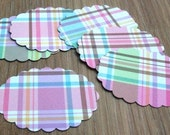Dolls house miniatures accessories 6 Pink Shabby Chic Place mats half scale 1/12