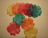 Large Neon Acrylic Frosted Flower Beads