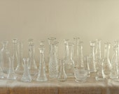 Vintage Glass Instant Collection - Wedding Decor - Set of 26
