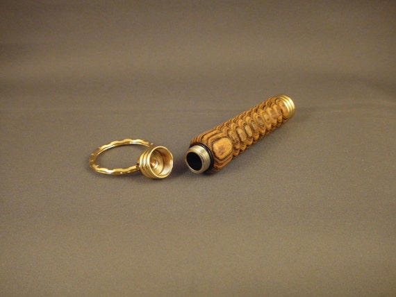 Key Chain - Storage Compartment - Bocote Wood