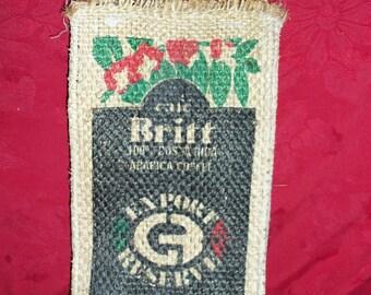 vintage Burlap Bags  Set of 2