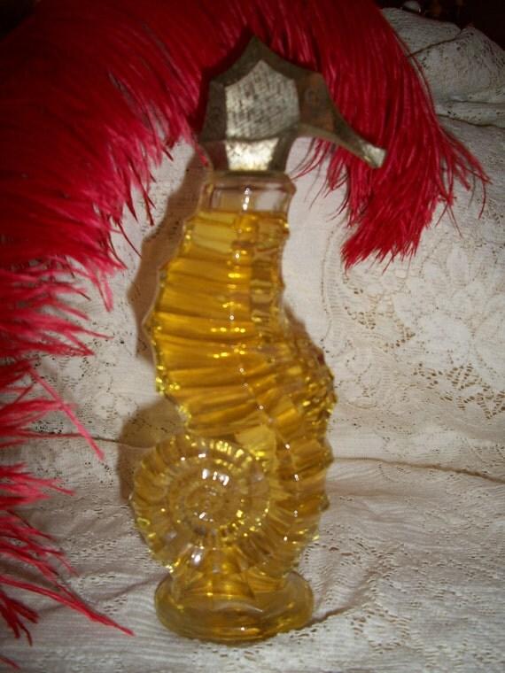 Vintage 1970s Avon Glass Seahorse perfume   USA ONLY