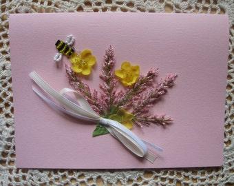 Blank Floral Card