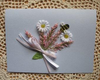 Blank Floral Greeting Card