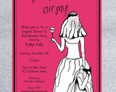Flashy Bachelorette Party Invitation