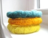 SALE - Needle Felted Bracelets in Spring Colors