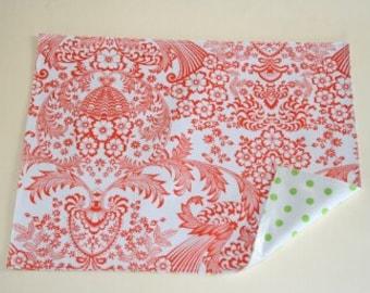 Orange Toile Reversible Oilcloth Placemats