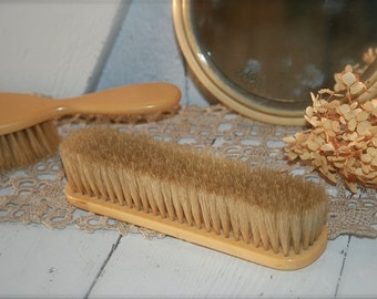 Victorian Brush with Handcarved Emblem