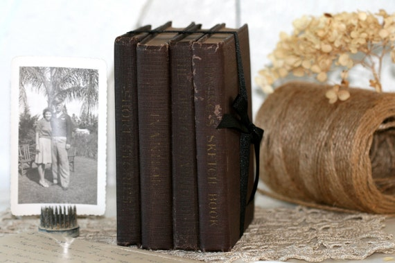 On Sale..A Collection of Vintage Books Dating from 1900 - 1918