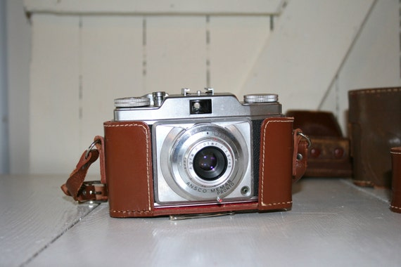 Ansco Camera with Leather Case
