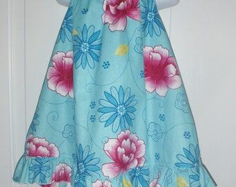 Gorgoeus Blue Floral Halter Dress and Leggings 4t Custom Boutique