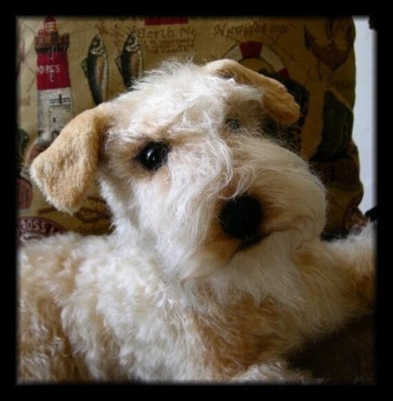 LAKELAND TERRIER dog- Custom Handmade Life Like Soft Sculpture or Memorial by Artist Tammy Hendricks