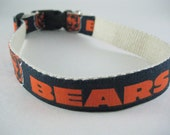 Hemp dog collar - Chicago Bears