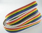 Somewhere Over the Rainbow hemp dog leash