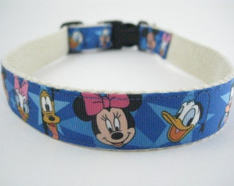 Disney Mickey Mouse, Minnie, Donald Duck, Daisy, Pluto, Goofy hemp dog collar or leash