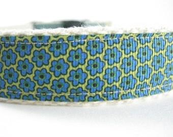 Hemp dog collar - Wild Flowers