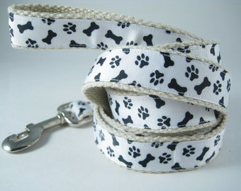 Dog Paws and Bones hemp dog leash