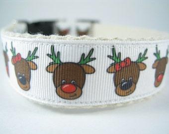 Rudolph the Red-Nosed Reindeer hemp dog collar