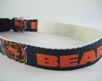 Chicago Bears hemp dog collar or leash