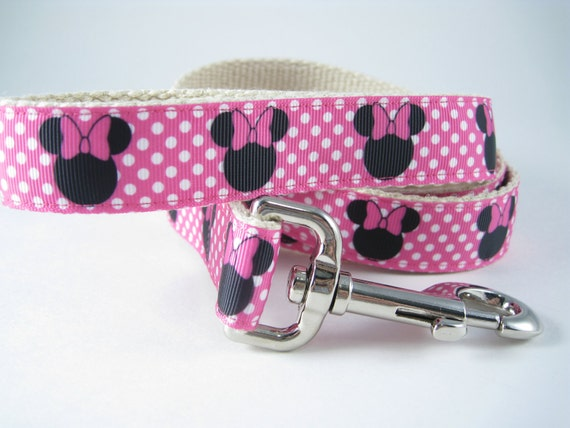 Minnie Mouse Disney hemp dog leash