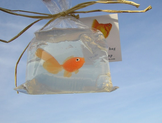 Fish in a bag novelty soap vegan friendly 4 bags of soap for Fish in a bag soap