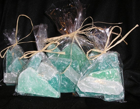 Beach Favors Sea Glass soap ocean scent or you choose the scent party favors beach themed wedding x 16
