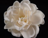 IVORY Gardenia with Swarovski Pearl BRIDAL Hair Flower Bobby Pin / Clip / Comb