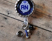 Badge reels - RN Retractable Badge Reel with BLING