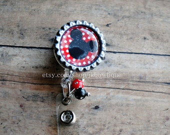 Badge reel - Mickey Mouse Retractable Badge Reel with BLING
