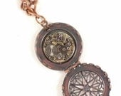 Locket Watch Pendant Steam Punk Necklace