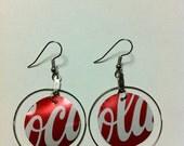 Soda Can Earrings - Coca Cola
