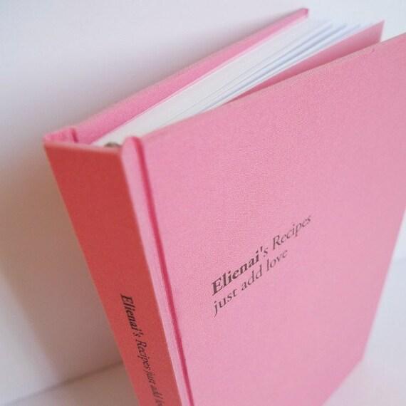 custom made recipe book