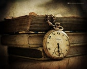 Story Time - Fine Art Photography Original Print, Old Vintage Pocket watch print, Wall Art, Still life Photography, Home Decor