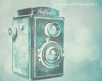 Teal Reflecta Camera - Fine Art Photography Original Print