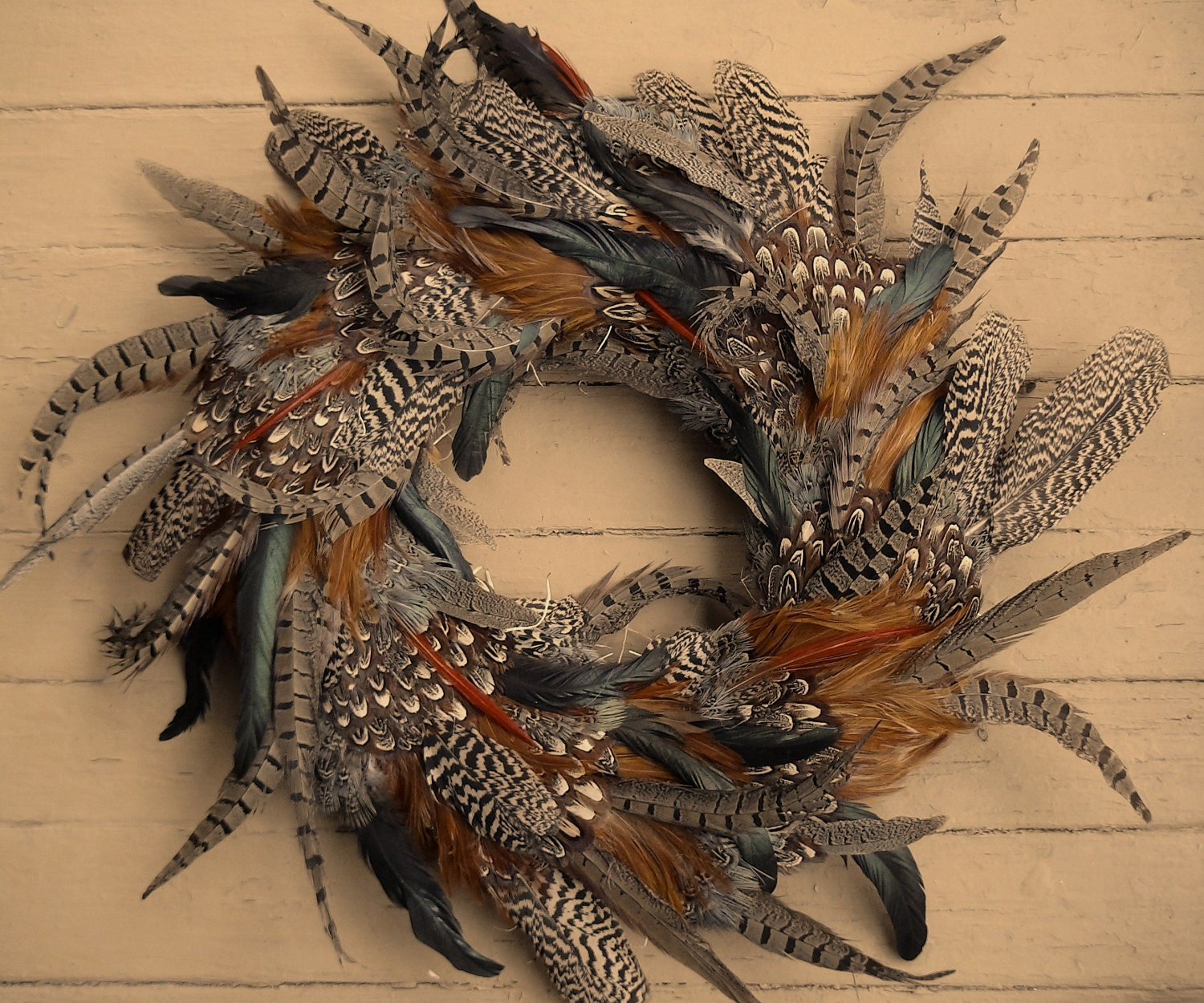 Feather Wreath: Rooster Pheasant and by theNestatWindyCorner