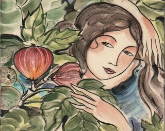 Woman and Fig