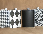 Any 4 Print Designs Stainless Steel Bridal Party Gift Flasks